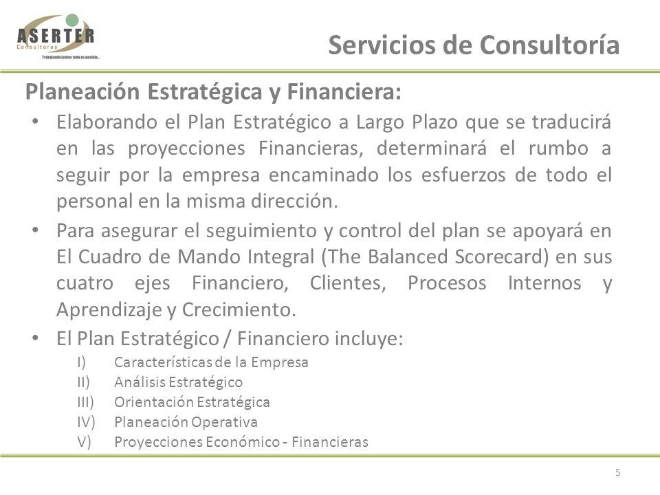 Plan de Negocios: I)Situación Actual II)Objetivos III)Administración / Gestión IV)Descripción Productos / Servicios V)Análisis del Mercado VI)Estrategias de Mercadeo VII)Estrategias de Manufactura VIII)Proyecciones Financieras Servicios de Consultoría cont….