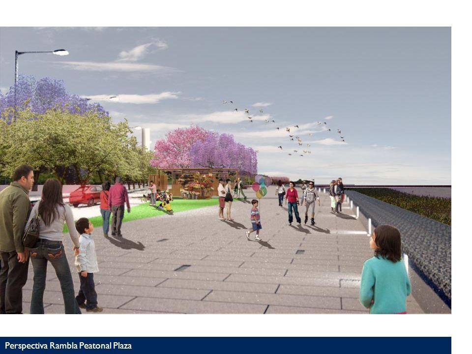 Perspectiva Rambla Peatonal Plaza