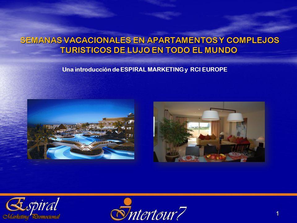 2 FUNDADA EN 1974 PARA OFRECER INTERCAMBIOS A PROMOTORES DE COMPLEJOS TURÍSTICOS Y HOTELEROS CUENTA HOY CON : 4.000 complejos afiliados a RCI en más de 100 países Más de 3.500.000 de familias socias en todo el mundo, 500.000 de éstas en Europa.