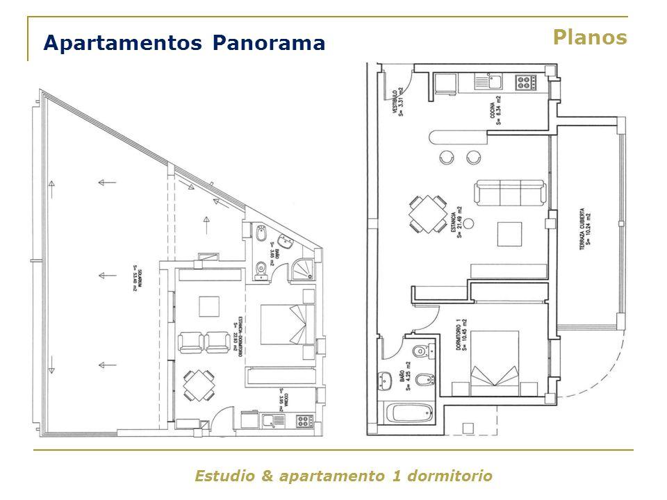 Estudio & apartamento 1 dormitorio Apartamentos Panorama Planos