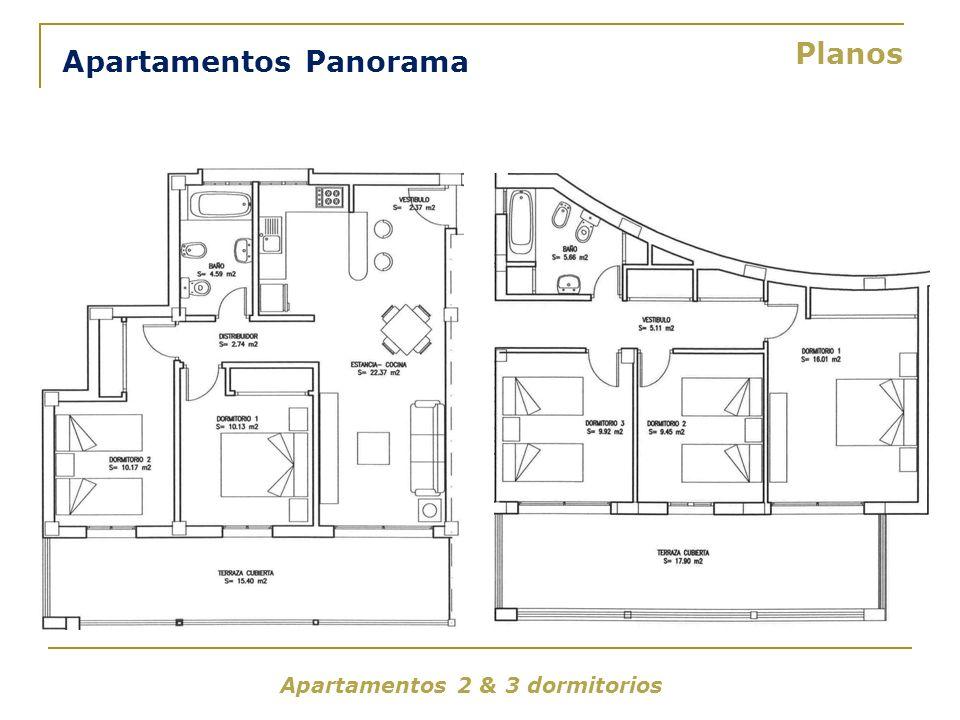 Apartamentos Panorama Planos Apartamentos 2 & 3 dormitorios