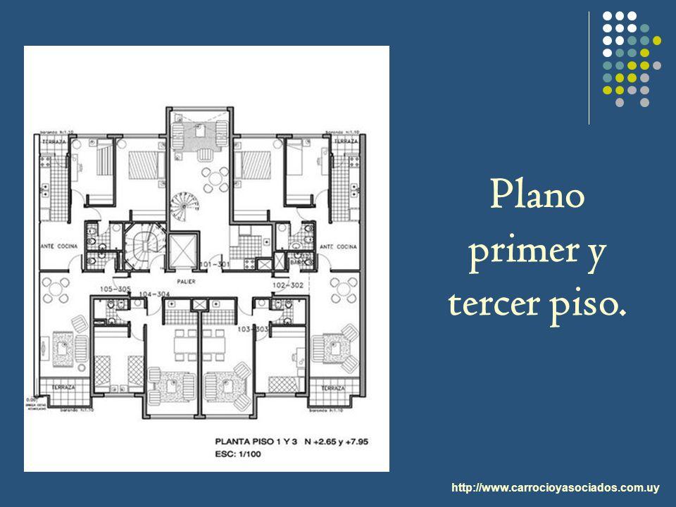 Plano primer y tercer piso.