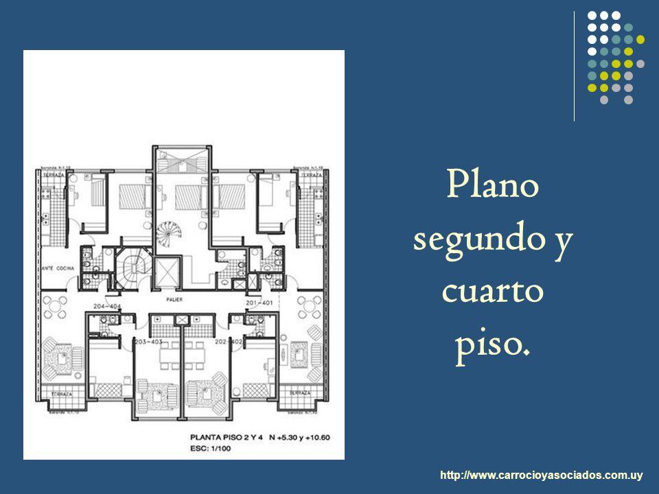 http://www.carrocioyasociados.com.uy Plano segundo y cuarto piso.