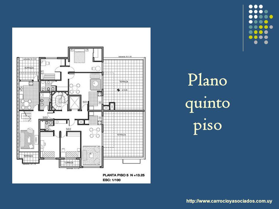 http://www.carrocioyasociados.com.uy Plano quinto piso