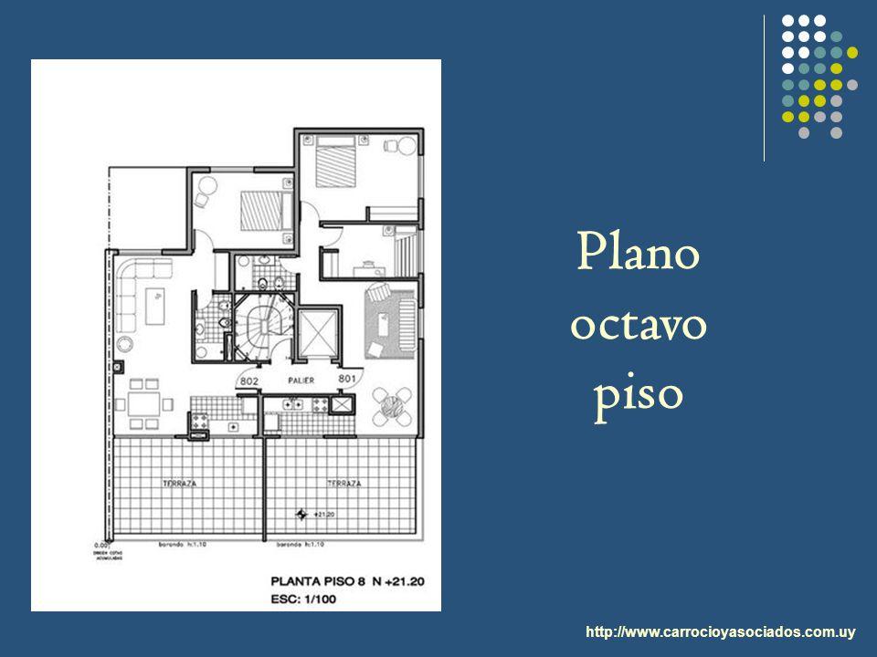 http://www.carrocioyasociados.com.uy Plano octavo piso