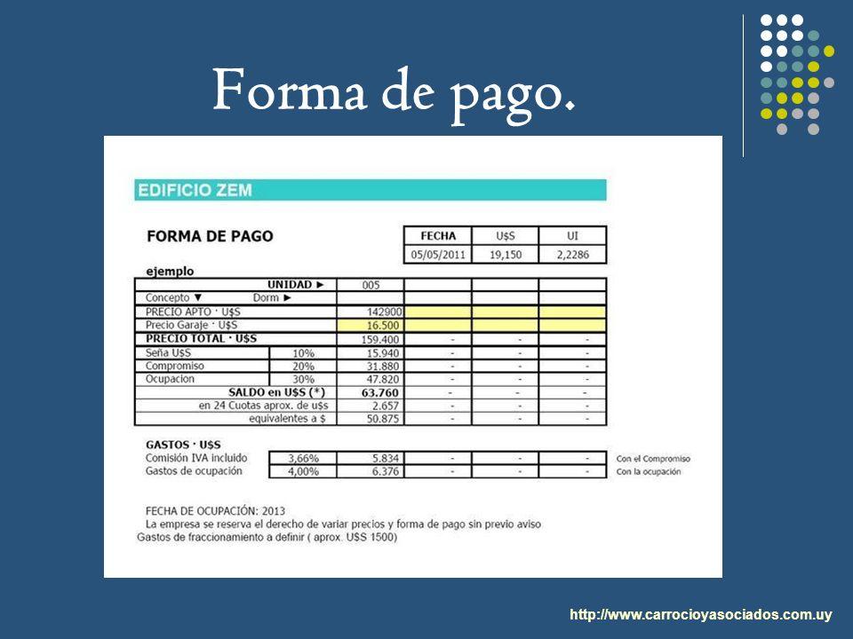 http://www.carrocioyasociados.com.uy Forma de pago.