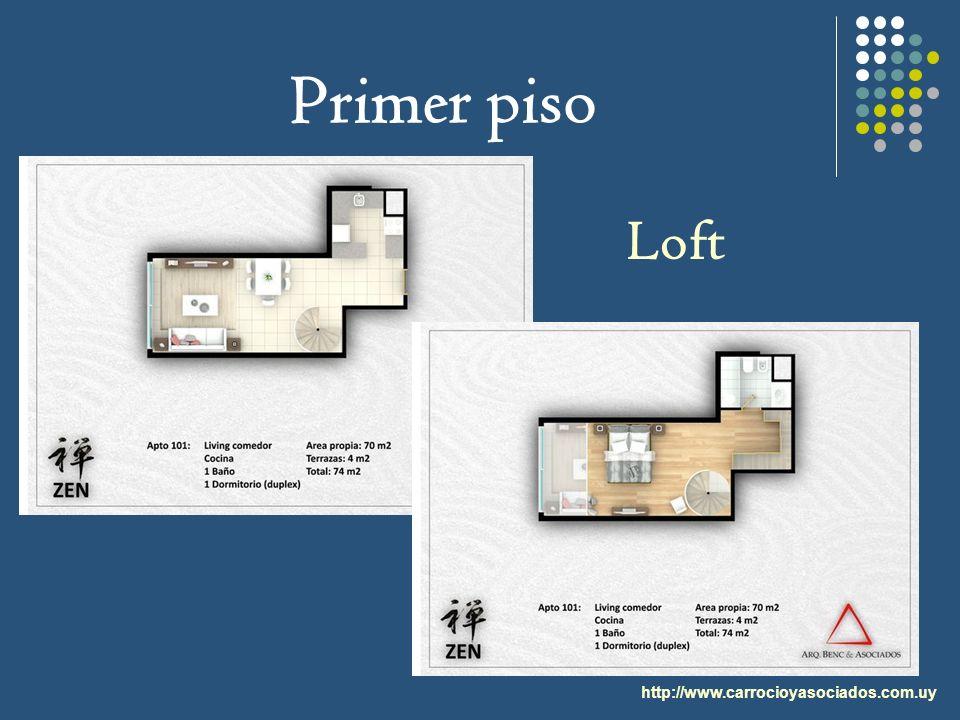 Primer piso http://www.carrocioyasociados.com.uy Loft