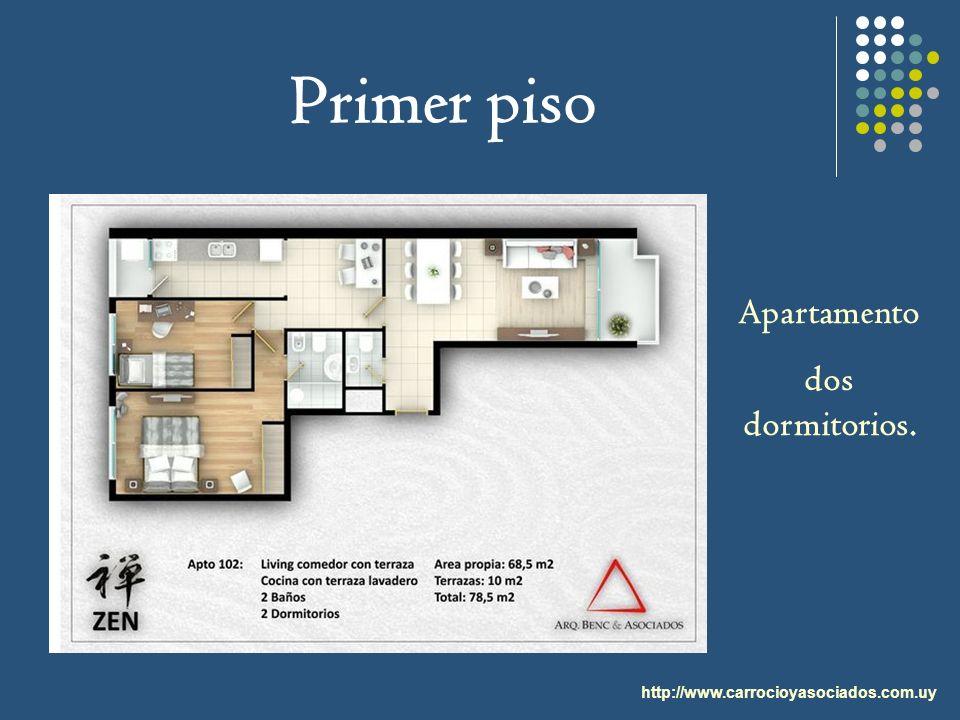Primer piso http://www.carrocioyasociados.com.uy Apartamento dos dormitorios.