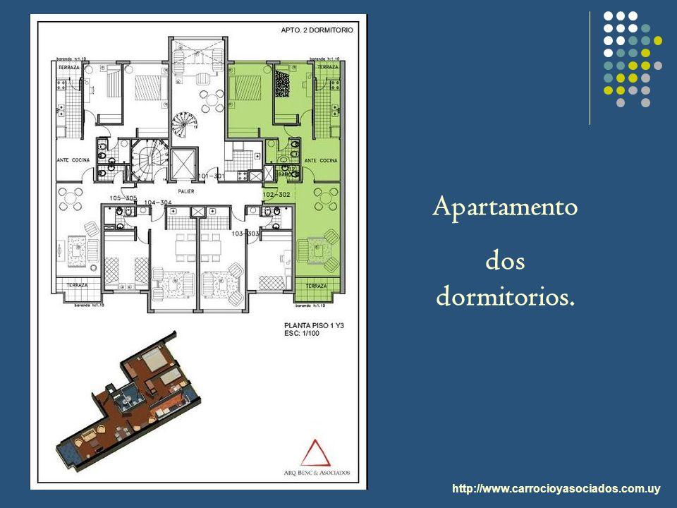 http://www.carrocioyasociados.com.uy Apartamento dos dormitorios.