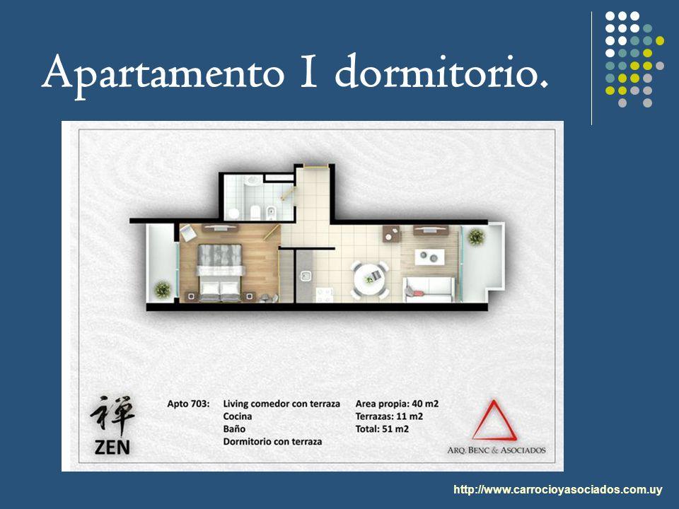 Apartamento 1 dormitorio. http://www.carrocioyasociados.com.uy