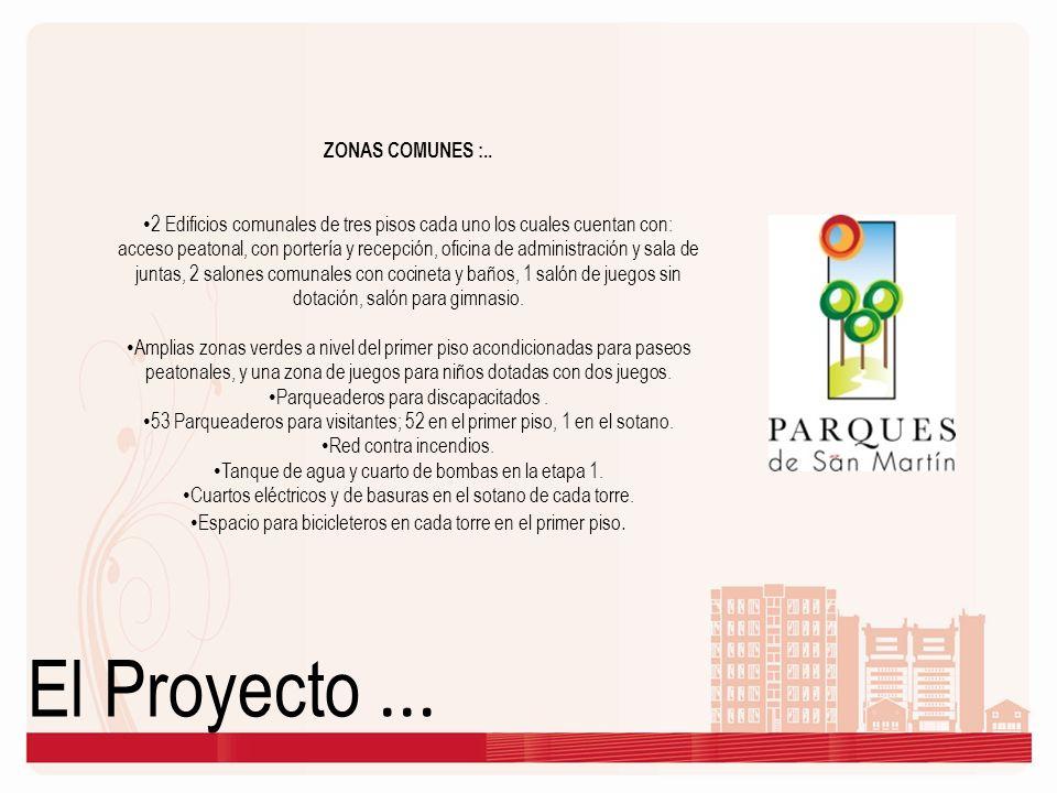 El Proyecto...ZONAS COMUNES :..