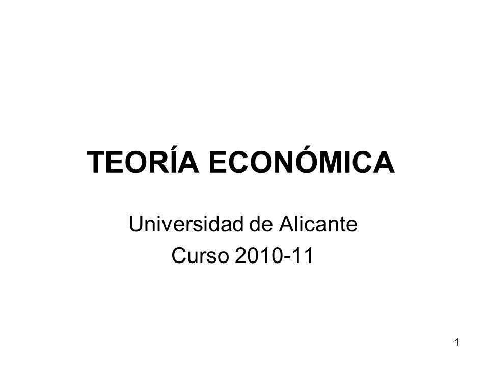 1 TEORÍA ECONÓMICA Universidad de Alicante Curso 2010-11