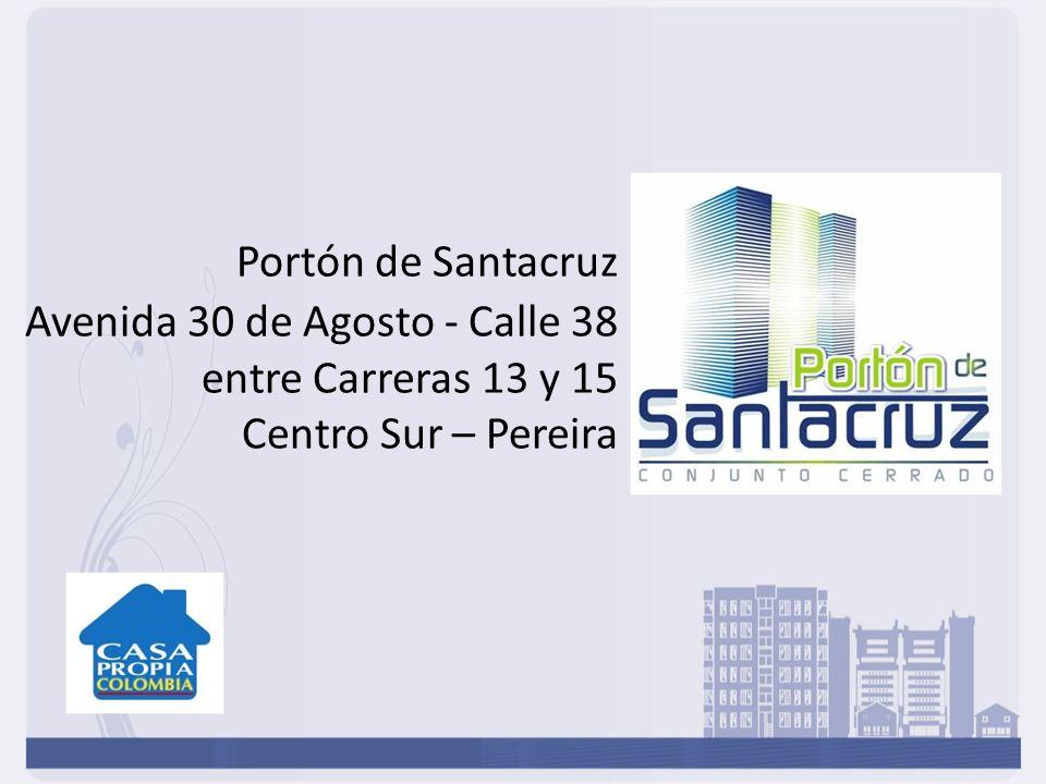 El proyecto Portón de Santa Cruz, se encuentra ubicado en el centro sur de Pereira - Risaralda, en una zona de excelente valorización, en estrato 5.