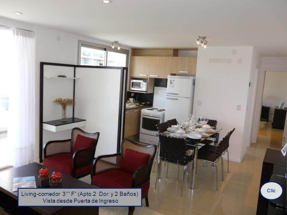 Living-comedor 3° F (Apto.2 Dor. y 2 Baños) Vista desde Puerta de Ingreso Clic
