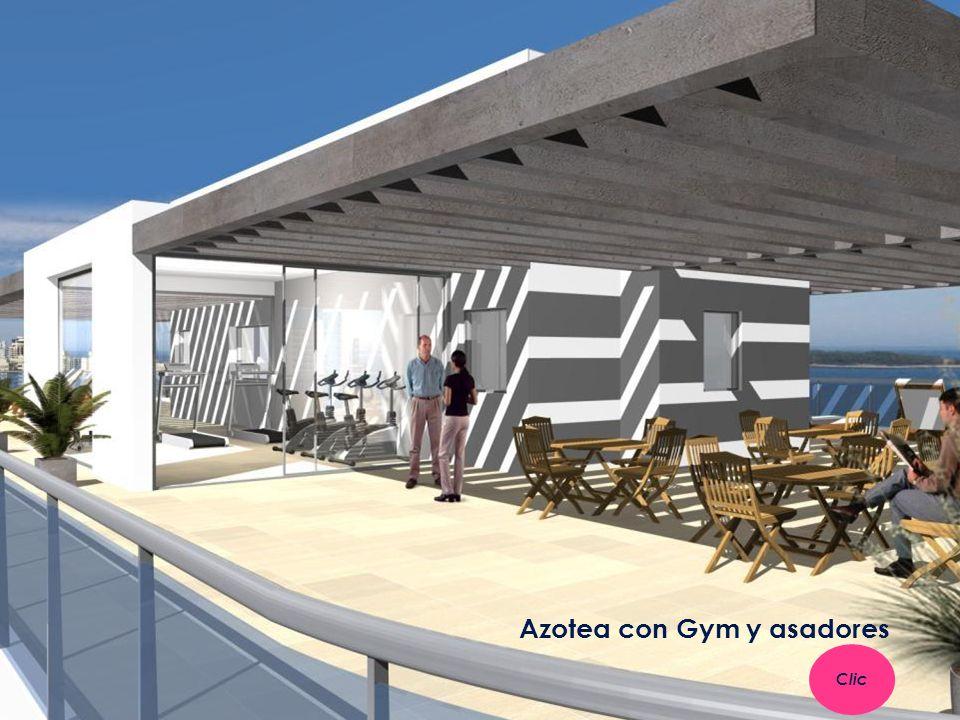 Azotea con Gym y asadores Clic