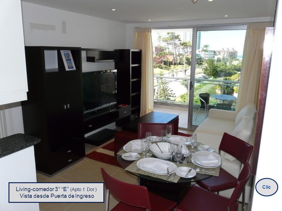 Living-comedor 3° E (Apto.1 Dor.) Vista desde Puerta de Ingreso Clic