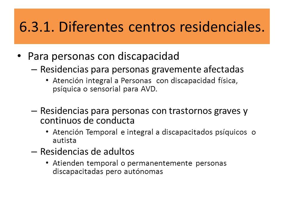 Para personas con discapacidad – Residencias para personas gravemente afectadas Atención integral a Personas con discapacidad física, psíquica o senso