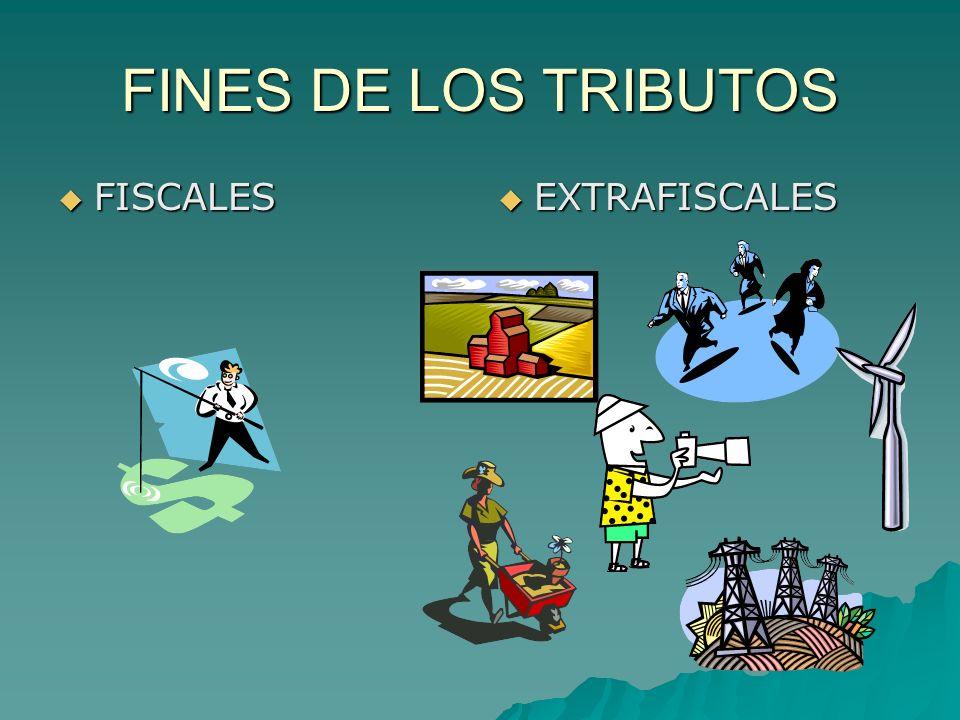 FINES DE LOS TRIBUTOS FISCALES FISCALES EXTRAFISCALES EXTRAFISCALES