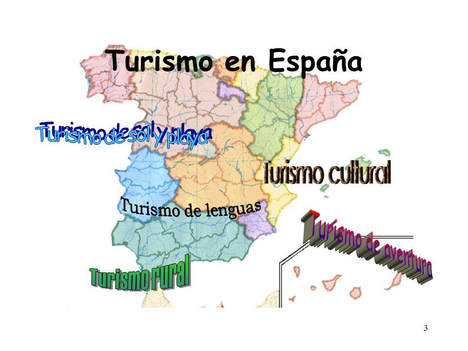4 Turismo de sol y playa Turismo cultural Turismo de lenguas