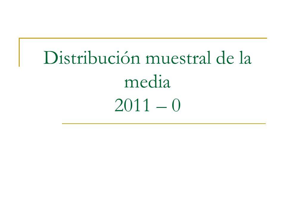 Distribución muestral de la media 2011 – 0