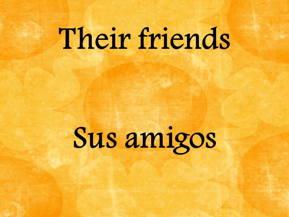 Their friends Sus amigos