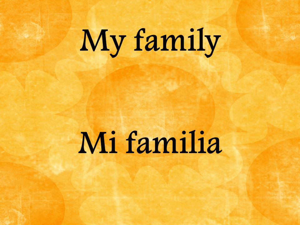 My family Mi familia