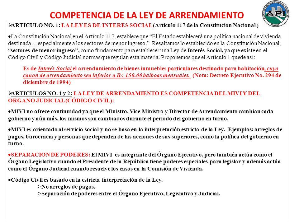 ARTICULO NO. 1: LA LEY ES DE INTERES SOCIAL (Artículo 117 de la Constitución Nacional ) La Constitución Nacional en el Artículo 117, establece que El