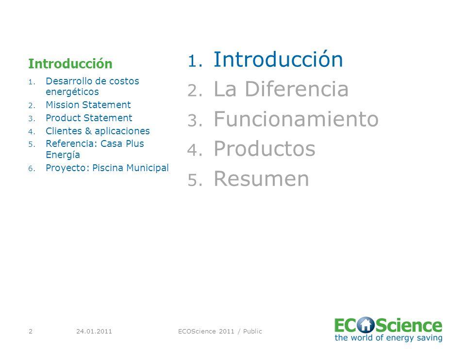 24.01.2011ECOScience 2011 / Public2 Introducción 1.