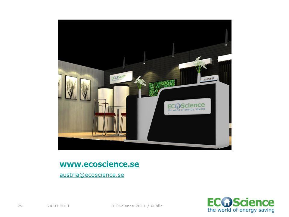 24.01.2011ECOScience 2011 / Public29 www.ecoscience.se austria@ecoscience.se