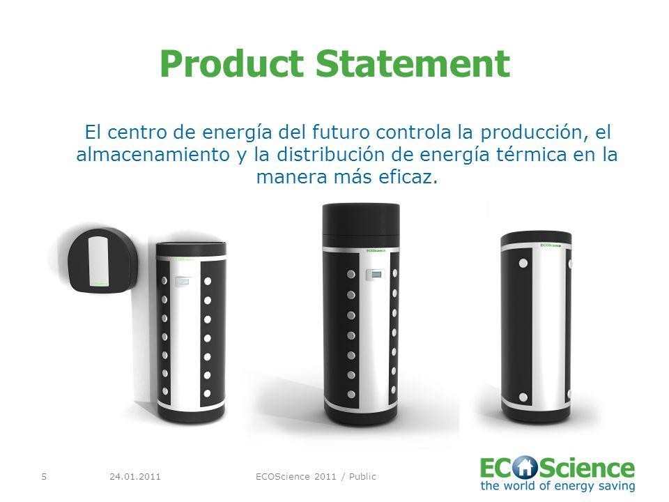 24.01.2011ECOScience 2011 / Public5 Product Statement El centro de energía del futuro controla la producción, el almacenamiento y la distribución de energía térmica en la manera más eficaz.