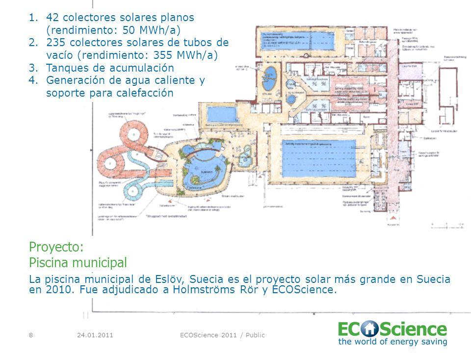 24.01.2011ECOScience 2011 / Public8 La piscina municipal de Eslöv, Suecia es el proyecto solar más grande en Suecia en 2010.