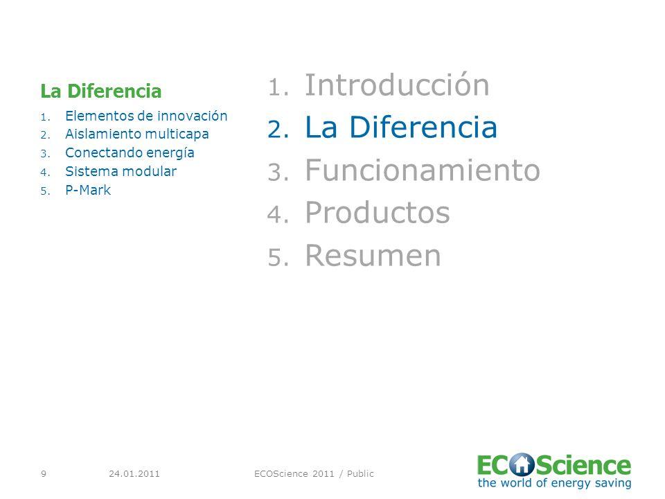 24.01.2011ECOScience 2011 / Public9 La Diferencia 1.
