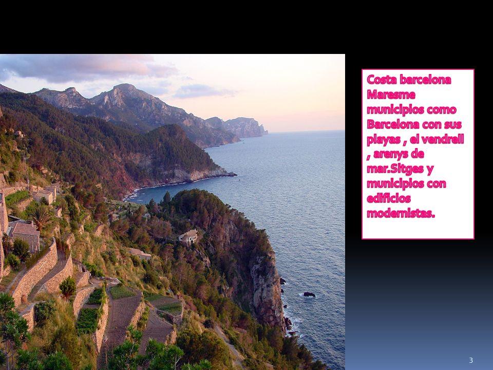 4 …… Costa daurada costa de tarragona desde sitges, san carles de la rapita,delta del ebre, salou, cambrils, port aventura.con su parque temático y numerosos hoteles.