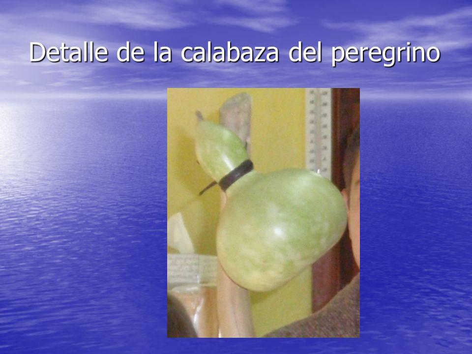 Detalle de la calabaza del peregrino