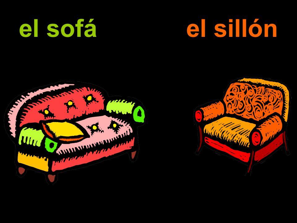 el sofá el sillón