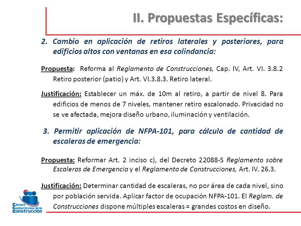 II.Propuestas Específicas: 4.