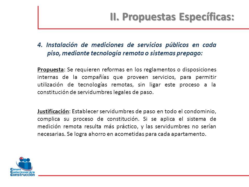 II.Propuestas Específicas: 5.