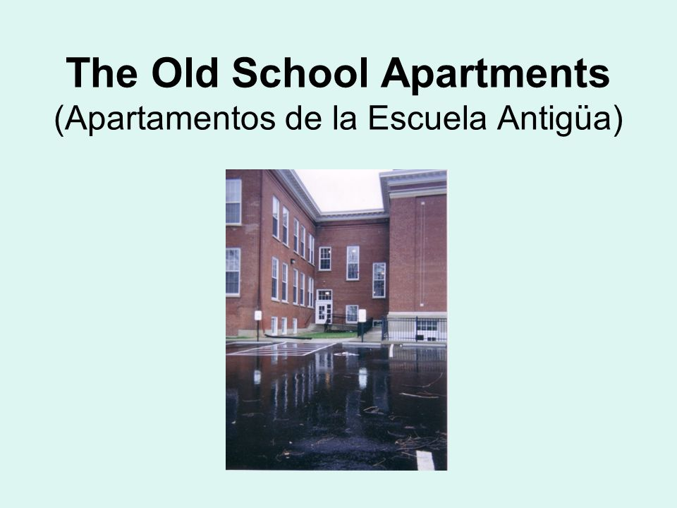 The Old School Apartments (Apartamentos de la Escuela Antigüa)