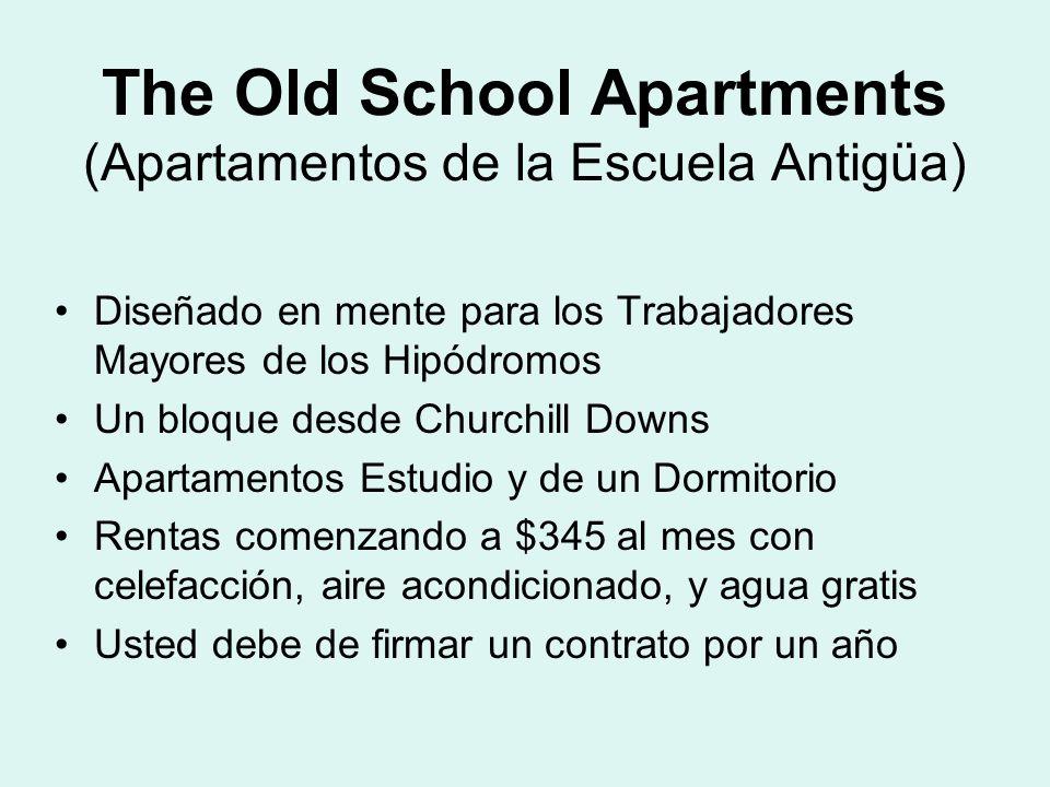 Diseñado en mente para los Trabajadores Mayores de los Hipódromos Un bloque desde Churchill Downs Apartamentos Estudio y de un Dormitorio Rentas comen