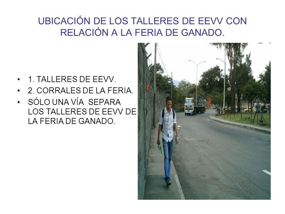 UBICACIÓN DE LOS TALLERES DE EEVV CON RELACIÓN A LA FERIA DE GANADO.