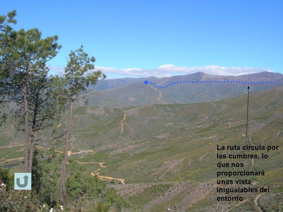 La ruta circula por las cumbres, lo que nos proporcionará unas vista inigualables del entorno