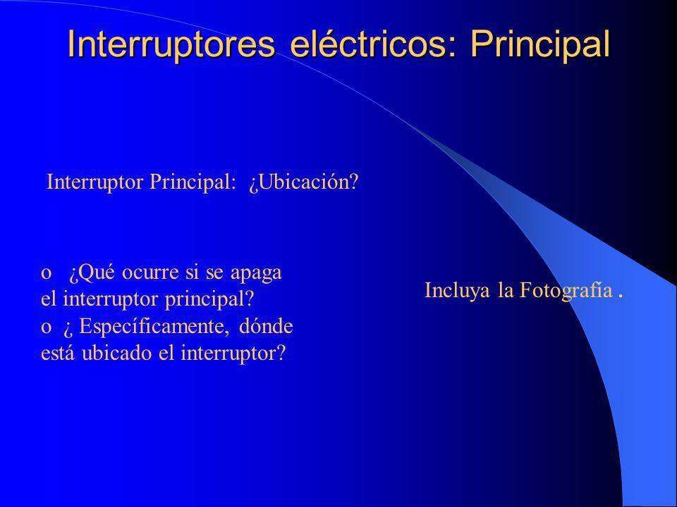 Interruptores eléctricos: Pisos individuales ¿Existen interruptores individuales.
