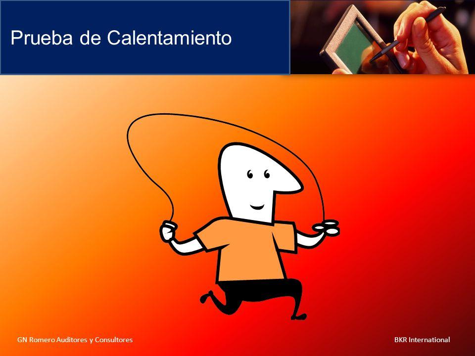 Prueba de Calentamiento GN Romero Auditores y Consultores BKR International