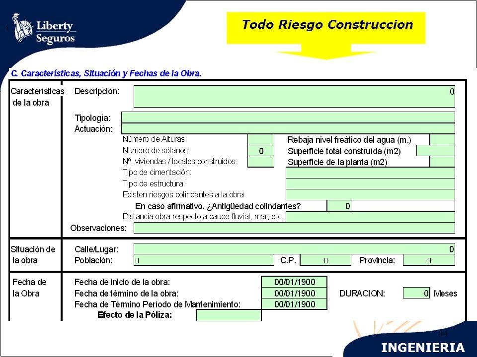 INGENIERIA 14 Todo Riesgo Construccion 1.