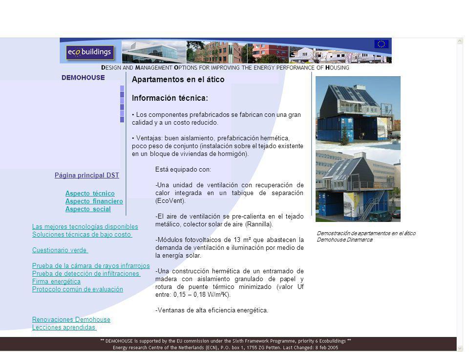 Apartamentos en el ático Información técnica: Los componentes prefabricados se fabrican con una gran calidad y a un costo reducido. Ventajas: buen ais