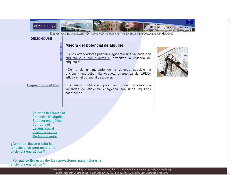 Mejora de la etiqueta energética del edificio Las etiquetas de la Directiva sobre el rendimiento energético de los edificios (EPBD) indican la eficiencia energética de una vivienda en una escala de la A a la G.