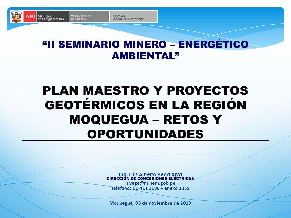 II SEMINARIO MINERO – ENERGÉTICO AMBIENTAL Ing.