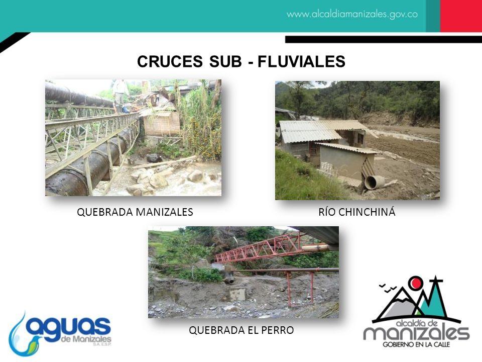 QUEBRADA MANIZALESRÍO CHINCHINÁ QUEBRADA EL PERRO CRUCES SUB - FLUVIALES