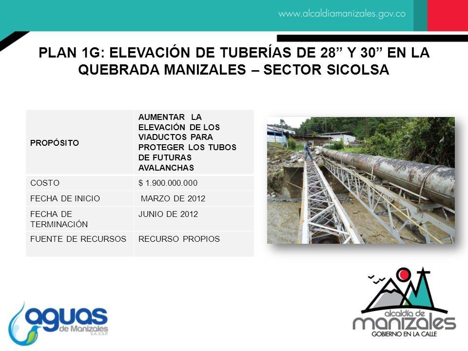 PROPÓSITO AUMENTAR LA ELEVACIÓN DE LOS VIADUCTOS PARA PROTEGER LOS TUBOS DE FUTURAS AVALANCHAS COSTO$ 1.900.000.000 FECHA DE INICIO MARZO DE 2012 FECH