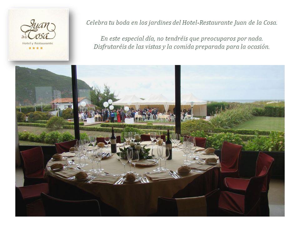 Celebra tu boda en los jardines del Hotel-Restaurante Juan de la Cosa.
